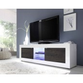 Meuble TV hi-Fi 2 portes/2 niches BERGAME 3