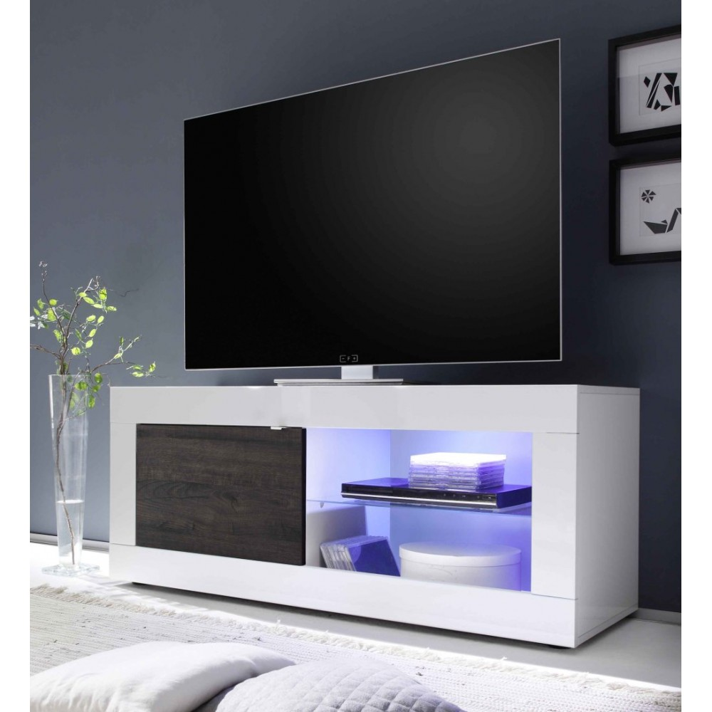 Meuble TV hi-Fi 1 porte/2 niches BERGAME 3