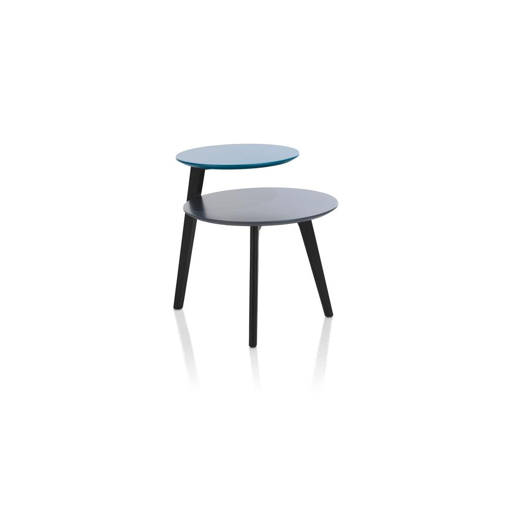 table d'appoint Two Tone - petrol + anthracite / centre en bleu+ bleu clair