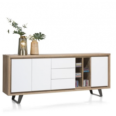 Buffet BOX H&H 3-portes + 3-tiroirs + 5-niches - 210 cm (+ LED)