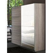 Armoire adulte 2 portes coulissantes 230 cm VIRGINIA