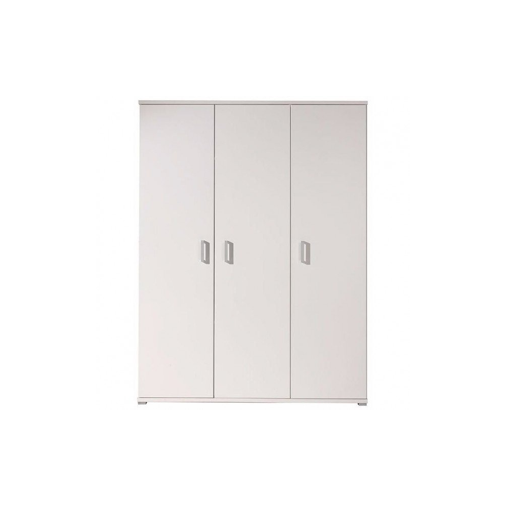 armoire 3 portes londres blanc 150 cm meubles thiry. Black Bedroom Furniture Sets. Home Design Ideas