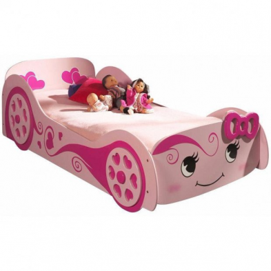 Lit voiture Pretty 90x200 cm rose