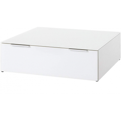 Table basse GW-LARINO à 2 tiroirs 80 cm coloris blanc