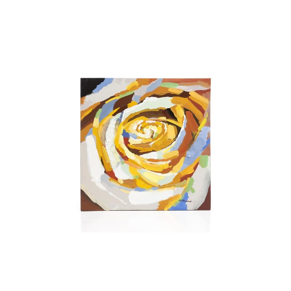 Tableau Yellow Rose 100 x 100 cm YOUNIQ