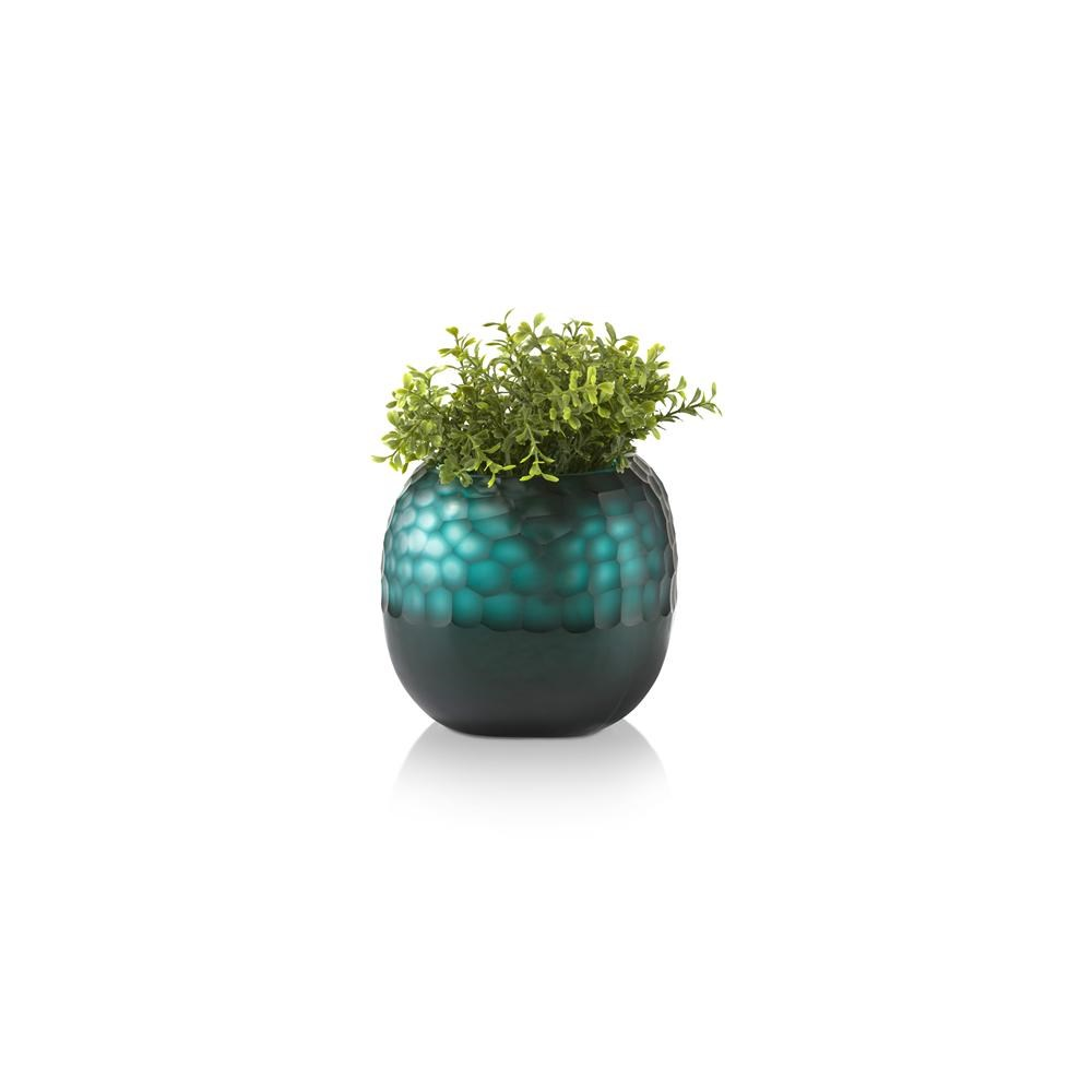 Vase Scoop Medium forme boule bleu vert - Henders&Hazel