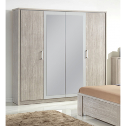 Armoire contemporaine 4 portes 214 cm AUDE