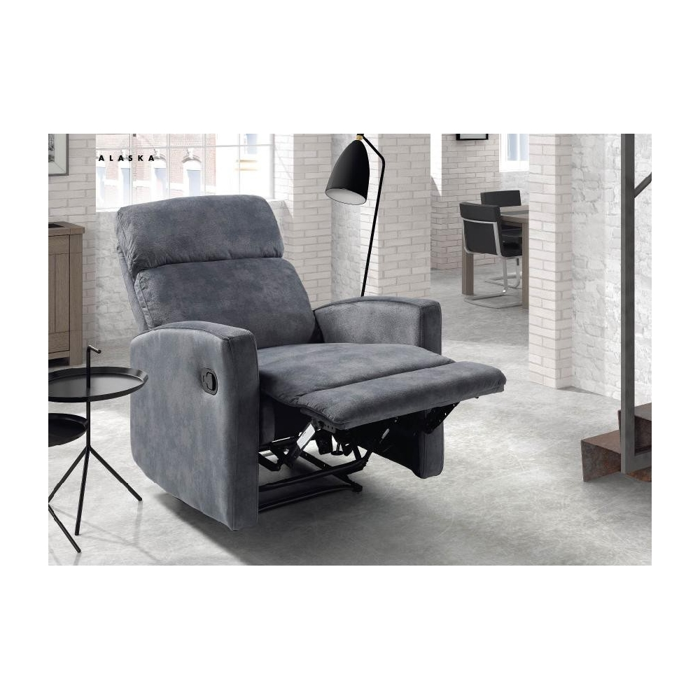fauteuil de relaxation manuel microfibre alaska. Black Bedroom Furniture Sets. Home Design Ideas