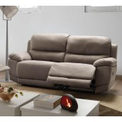 "Canapé 3 places avec 2 ""relax"" tissu New Nobuck JERSEY"