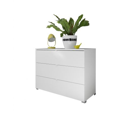 Commode 3 tiroirs ATLANTICA BLANC