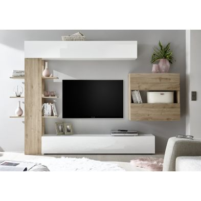 Ensemble meuble TV design SIROCCO 285 x 187 cm