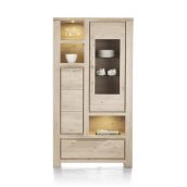 Vaisselier-bar BUCKLEY 110 cm acacia massif H&H