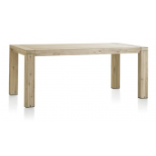 Table avec allonge BUCKLEY 160 (+ 50) x 100 cm acacia massif H&H