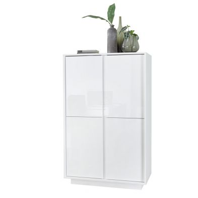 Bar 4 portes 92 cm Rocket White en blanc brillant