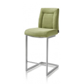 Malene, chaise bar - inox pied traineau carre + poignee