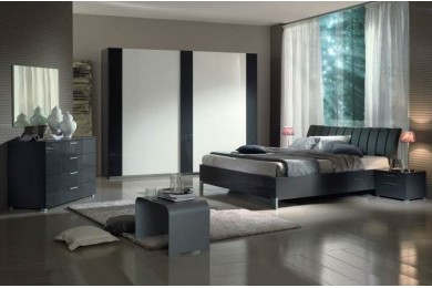 Chambre adulte design meubles thiry for Meuble chambre gris